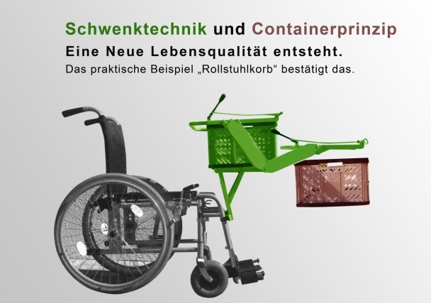 Rollstuhl Hebeschwenktechnik für Korb 1